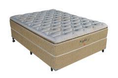 Colchão Pelmex de Molas Pocket Night Bambu Bege Pillow Top - Colchão Solteiro - 0,88x1,88x0,32 - Sem Cama Box
