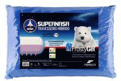 Travesseiro Fibrasca Frostygel Sensação Frescor Supernasa Viscoelástico e T.Latex p/Fronha 50x70 - Travesseiro Fibrasca