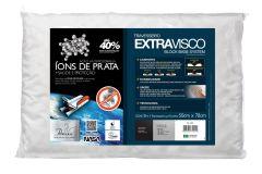 Travesseiro Fibrasca Extravisco c/ Íons de Prata Block Base System Lavável p/Fronha 50x70 - Travesseiro Fibrasca