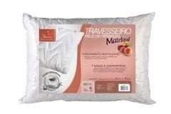 Travesseiro Fibrasca Pele de Pêssego Matelassê Fibras Siliconizada Lavável p/Fronha 50x70 - Travesseiro Fibrasca