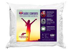 Travesseiro Fibrasca Saúde e Conforto Fibras Siliconizada c/ Íons de Prata  Lavável p/Fronha 50x70 - Travesseiro Fibrasca