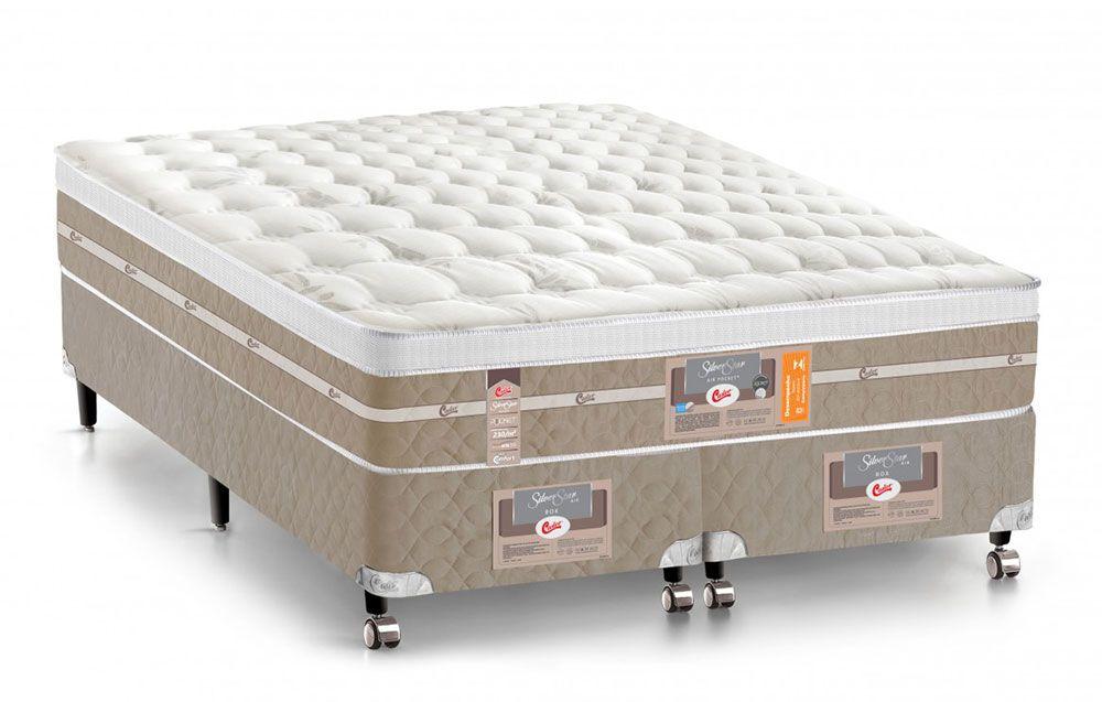 Colchão Castor de Molas Pocket Silver Star Air Max 3D Euro Pillow - Colchão Castor