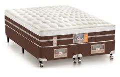 Colchão Castor de Molas Pocket Silver Star Air Híbrido One Face Euro Pillow - Colchão Ortobom