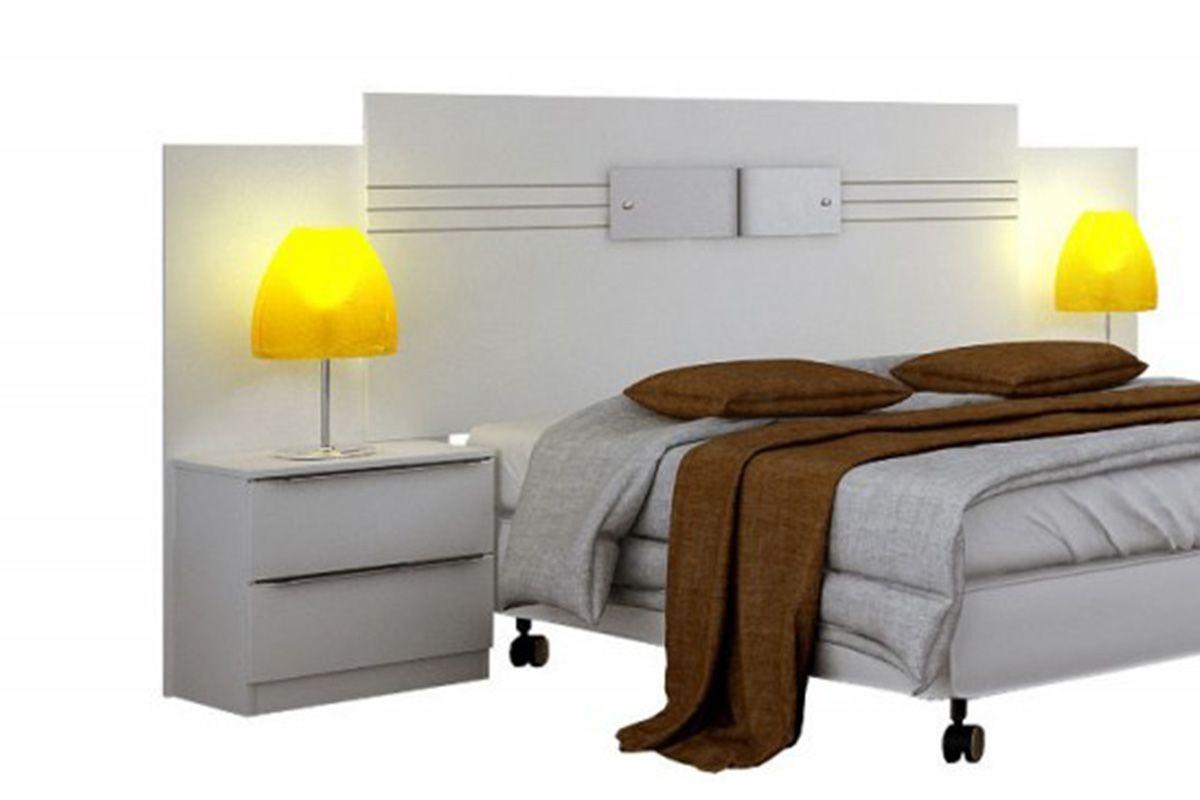 Cabeceira cama box casal novo horizonte plenus com criado for Cama queen costa rica