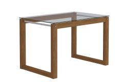 Mesa Cimol Anita Base Madeirado c/ Tampo de Vidro 120cm (s/ cadeiras) - Móveis Cimol