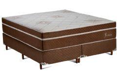 Colchão Polar de Molas Pocket Ensacadas Jasmin Fort Brown Euro Pillow - Colchão Solteiro - 0,88x1,88x0,30 - Sem Cama Box