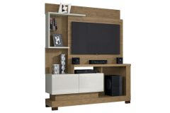 Home Theater Linea Brasil Turin Smart Wood p/ Tv de até 50 Polegadas -