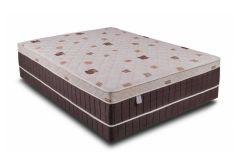 Conjunto Cama Box + Colchão Conjugado Kappersberg de Molas Verticoil Unique Euro Pillow - Móveis Kappesberg