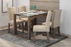 Conjunto Sala de Jantar Cimol Mesa Anita 120cm c/ 4 Cadeiras Milena - Móveis Cimol