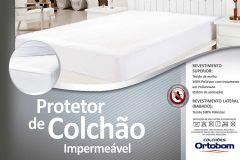 Protetor de Colchão Ortobom Liso - Solteiro  -  0,88 x 1,88