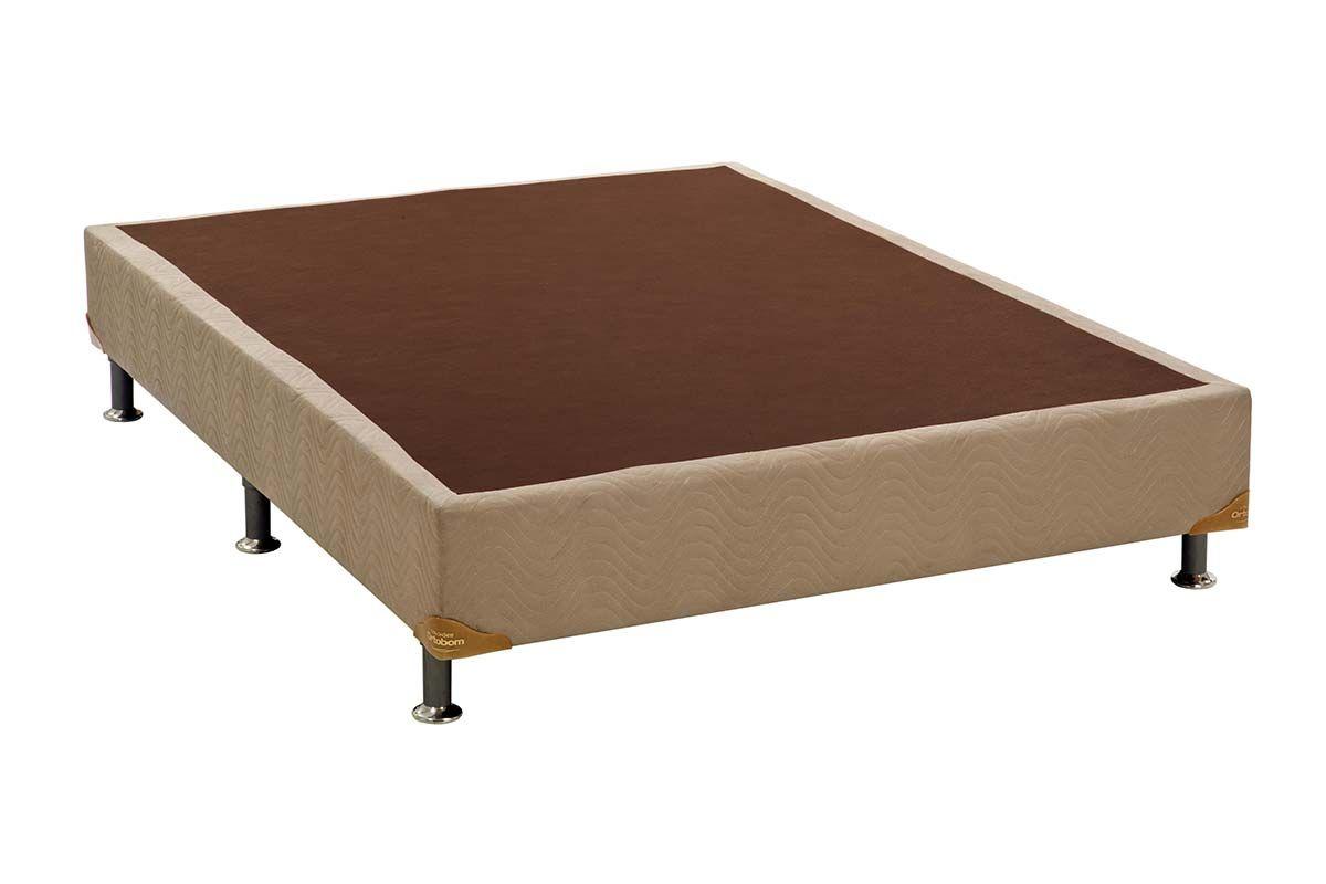 Cama Box Base Ortobom Universal Nobuck Bege Crema 020 - Colchão Ortobom