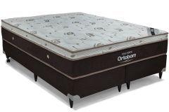 Colchão Ortobom de Molas Pocket  Sleep King Látex Euro Pillow - Colchão Solteiro - 0,88x1,88x0,32 - Sem Cama Box