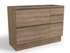 Balcão (Gabinete) de Cozinha Kappesberg Maxxi G746 Madeira 1 Porta + 4 Gavetas S/tampo 120cm (Usar Tampo S415 ou E609) - Móveis Kappesberg
