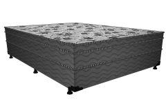 Conjugado Cama Box + Colchão Probel de Espuma D28 ProDormir Advanced Euro Pillow Gray - Colchão Probel