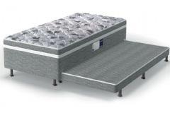 Conjugado Cama Box + Colchão + Auxiliar Probel de Espuma D28 ProDormir Advanced Euro Pillow Gray - Colchão Probel