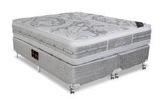 Colchão Castor de Molas Pocket Super luxo Látex Plush Euro Pillow Double Face - Colchão Solteiro - 0,88x1,88x0,36 Sem Cama Box