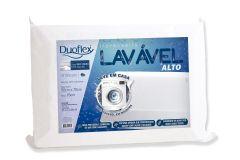 Travesseiro Duoflex Lavável Alto LV3100 c/ Capa Dry Fresh P/ Fronha 50x70 (15cm) - Travesseiro Duoflex