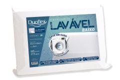 Travesseiro Duoflex Lavável Baixo LV3200 Capa Dry Fresh P/ Fronha 45x65 (8cm) - Travesseiro Duoflex