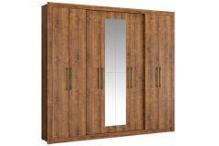 Guarda Roupa Carraro 1096 Héster 8 Portas 4 Gavetas c/ Espelho - Móveis Carraro