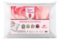 Travesseiro Fibrasca Toque de Rosas Látex Lavável - Travesseiro Fibrasca