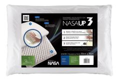Travesseiro Fibrasca Nasa UP3 Duplaface Viscoelástico c/ Massageador - Travesseiro Fibrasca
