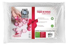 Travesseiro Fibrasca Toque de Rosas Plumax Lavável c/ Íons de Prata - Travesseiro Fibrasca