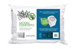 Travesseiro Fibrasca Saúde e Conforto c/ Íons de Prata - Travesseiro Fibrasca