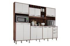 Cozinha Completa Valdemóveis Ágata (Armário+Gabinete+Nichos) - Móveis Valdemóveis