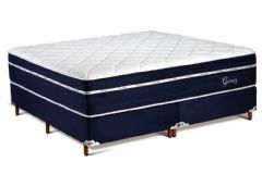 Colchão Polar de Mola Pocket Ensacadas Garnet Fort Blue Euro Pillow - Colchão Solteiro - 0,88x1,88x0,38 Sem Cama Box
