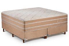 Colchão Polar de Mola Pocket Cristal Euro Pillow - Colchão Solteiro - 0,88x1,88x0,36 Sem Cama Box