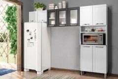 Cozinha Compacta Bertolini Múltipla CZM07 Aço 3 Peças (1 Paneleiro+2 Armários) - Cozinhas Bertolini