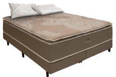 Colchão Simbal de Molas Pocket Nápoles Pillow Top - Colchão Solteiro - 0,88x1,88x0,38 Sem Cama Box
