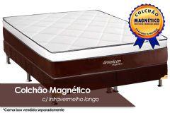 Colchão Magnético Infravermelho Longo Terapeutico American de Molas Pocket EuroPilow Branco/Marrom - Colchão Solteiro - 0,88x1,88x0,32 - Sem Cama Box