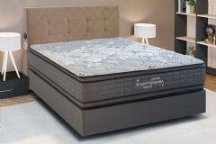 Colchão Kappesberg de Molas Pocket Premium Inverno Verão Cinza Double Face Euro Pillow - Colchão Solteiro - 0,88x1,88x0,32 - Sem Cama Box