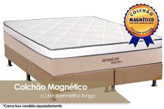 Colchão Magnético Infravermelho Longo Terapeutico American de Molas Pocket EuroPilow Branco/Bege - Colchão Solteiro - 0,88x1,88x0,32 - Sem Cama Box