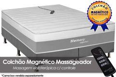 Colchão Magnético Infravermelho Longo c/  Massageador Memory Espuma Ortopédica EuroPilow Branco/Cinza - Costa Rica