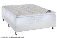 Colchão Ortobom Molas Pocket Fort Tech Pillow Top - Colchão Solteiro - 0,88x1,88x0,32 - Sem Cama Box