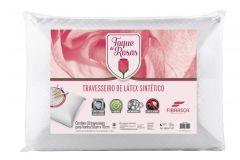 Travesseiro Fibrasca Visco Super Toque de Rosas - Travesseiro Fibrasca