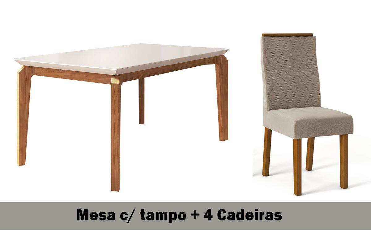 Image of: Sala De Jantar Dj Moveis Mesa Rouge 4 Cadeiras Serena Na Costa Rica Colchao