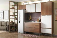 Cozinha Completa Multimóveis Calábria 5458 4 Peças (1 Paneleiro+2 Aéreos+1 Balcão) - Multimóveis
