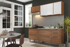 Cozinha Completa Multimóveis Calábria 5459 5 Peças (2 Aéreos + 2 Balcões + Tampo) - Multimóveis