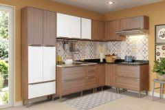 Cozinha Completa Multimóveis Calábria 5462 7 Peças (1 Paneleiro+3 Aéreos+3 Balcões) - Multimóveis