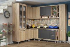 Cozinha Completa Multimóveis Sicília 5805 10 Peças (2paneleiros+2 Nichos+3 Aéreos+3 Balcões) - Multimóveis