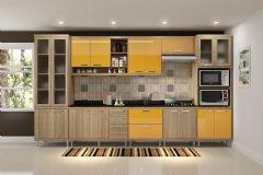 Cozinha Completa Multimóveis Sicília 5807 8 Peças (2 Paneleiros+3 Aéreos+3 Balcões) - Multimóveis