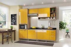 Cozinha Completa Multimóveis Sicília 5809 6 Peças (1 Paneleiro + 2 Aéreos + 2 Balcões + Tampo) - Multimóveis