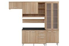 Cozinha Completa Multimóveis Sicília 5817 5 5 Peças (1 Paneleiro+2 Aéreos+1 Balcão+1 Prateleira) - Multimóveis
