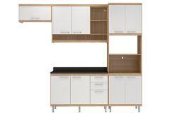 Cozinha Completa Multimóveis Sicília 5829 4 Peças (1 Paneleiro+2 Aéreos+1 Balcão) - Multimóveis