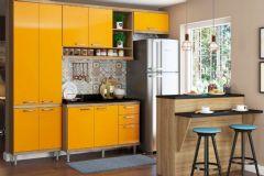 Cozinha Completa Multimóveis Sicília 5846 6 Peças (1 Ilha + 1 Paneleiro + 2 Aéreos + 1 Balcão + Tampo) - Multimóveis