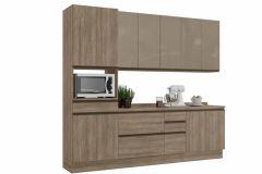 Cozinha Completa Kappesberg Maxxi CB338 7 Peças (Paneleiro+2 Balcões c/ Tampo+2 Aéreos) - Móveis Kappesberg
