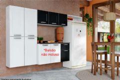 Cozinha Compacta Dona Maria CZDM13 Aço 3 Peças (1 Paneleiro + 1 Aéreo + 1 Nicho) - Cor Branco